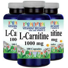 L-Carnitine 1000mg (Free Form) 3X100 or 1X200 + 1X100 caps by Vitamins Because