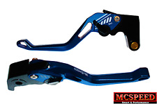 YAMAHA YZF1000R Thunderace Adjustable Brake & Clutch CNC Levers Blue