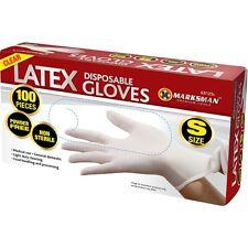100 guanti monouso lattice senza polvere non sterile uso MEDICO Cibo Lavoro Chiaro