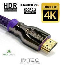 2m PREMIUM PRO Braided HDMI 2.0a 4K HDR Ultra UHD 3D 2160p - xbox one X S PS4 TV