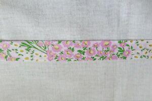 Cotton Bias binding- Pink floral  25mm, price per metre