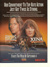 Kevin Sorbo Hercules Legendary/Lucy Lawless Xena Warrior Princess 1995 Ad- MCA