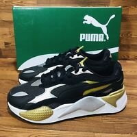 Puma RS-X 3 Metallic Women's Athletic Casual Sneakers Black Shoes