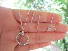 White Gold Nail Necklace 18k codeNx22 sepvergara