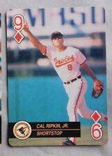 1992 MLB Playing Card Nine of Diamonds Cal Ripken Jr Orioles