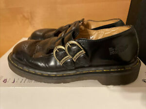 Dr. Martens Women's Black 8065 Smooth Leather Mary Jane Shoes Size US 7 UK 5