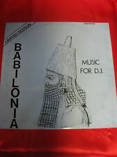 BABILONIA  , Music for d.j.  Limited edition ( Brani afro bellissimi )  33 giri