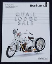 Bonhams Quail Motorcycle, 2012, Hobday collection, Von Dutch, Bud Ekins, Mars