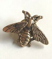 Gold Bee Pin Brooch Plated Tie Tac Lapel Insect Bea Bumble