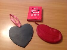 Valentine Gifts. Slate Heart, All You Need Is Love Book And Lip Purse
