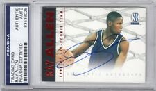 Ray Allen UCONN 1997 Scoreboard All-Rookie Team Red Signed AUTOGRAPH PSA DNA