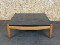 60er 70er Jahre Oak Eiche Coffee Table Couchtisch Carl Straub Schieferplatte 60s