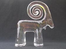 Kosta Boda Bertil Vallien Sweden Zoo Series IBEX Figurine 70s Scandinavian Glass