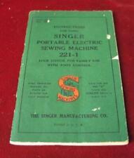 Vintage Singer Featherweight Sewing Machine 1950 Manual