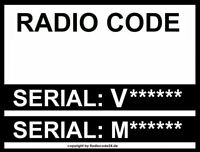█►Radio Code passend für fits Ford V-Code Single CD 6000 Security Code