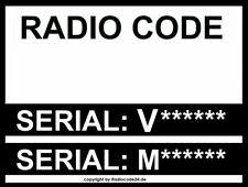 █►Radio Code passend für Ford M Code V Code