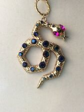Betsey Johnson Long Pendant Gold Tone Snake  $42  BG 7