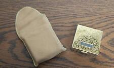 VTG UNUSED Elgin American Sterling Silver Powder Compact with Protective Pouch