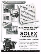 1930s BIG Vintage Solex Thermostarter Auto Gas Garage Motor Art Deco Print Ad