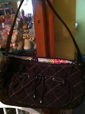 Vera Bradley Microfiber Brown Espresso Tie Front Shoulder Bag
