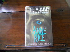 THE MUMMY, Anne Rice, SIGNED 2x, 1st ed/1st print UK Chatto & Windus, HCDJ 1989