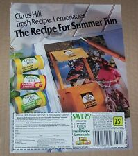 1991 page -Citrus Hill Lemonade stand Boy Girl- Procter & Gamble old coupon AD