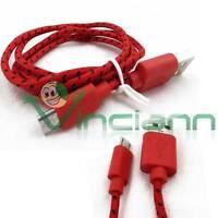 Cavo dati Tessuto Nylon ROSSO per NGM Forward Young USB carica sincronizza