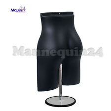 Black Mannequin Female Butt Form with Stand & Hook for Hanging