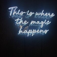 This Is Where The Magic Happens Neon Light Sign Bedroom Decor Man Cave Beer Bar
