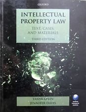 INTELLECTUAL PROPERTY LAW Text, Cases and Materials Third Edition Paperback Book