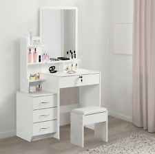 NEW Vanity Set White Dressing Table Jewellery Makeup Desk Tables Bedroom Furnitu