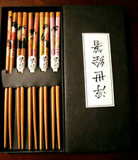 NIB Gift Set of Chop Sticks-5 Sets  Box Included Asain Characters