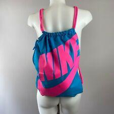 Nike Heritage Gymsack Drawstring Backpack Bag Neon Blue Pink