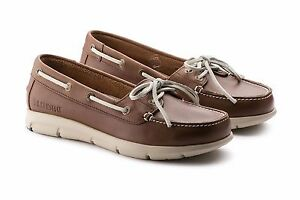 BIRKENSTOCK SHOES TENNESSEE MID BROWN LEATHER WOMEN'S LACE UP LOAFERS MOCASSINS