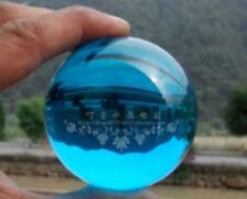 EPIC VAULT-Lake Blue Magic Crystal Healing Ball Sphere + Stand 40mm