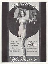 PUBLICITE WARNER's GAINE CORSET LINGERIE FEMME   AD  1931 - 2H