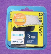 PHILIPS NORELCO ONEBLADE ONE BLADE 3 PACK REPLACEMENT CARTRIDGES BLADES QP230/80