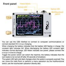 NanoVna Mini Vector Network Analyzer 50Khz-900Mhz Lcd Display Touching Scre C6Y9