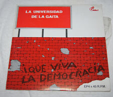 LP: La Universidad de la Gaita (1980) Que Viva la Democracia - bagpipes
