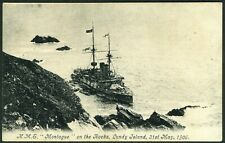 More details for 002-jlu : incredibly rare p.c.  h.m.s. montagu - day after grounding - see desc