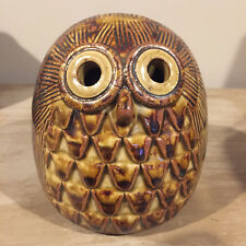 Vintage F&F Fitz and Floyd Ceramic Owl Bank with plug 1970's