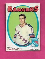 1971-72 OPC # 215 RANGERS BILL FAIRBAIRN ROOKIE  NRMT CARD  (INV# C5103)