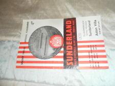 RARE 1963 LEAGUE CUP SEMI FINAL SUNDERLAND V ASTON VILLA