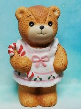 Enesco Lucy and Me Lucy Rigg girl bear in pink with Candy Cane