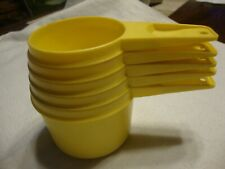 Set Of 5 Vintage Yellow Tupperware Measuring Cups
