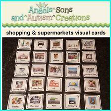 Shopping & supermarchés cartes/PECS/aides visuelles-Autisme/besoins spéciaux/