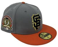 San Francisco Giants New Era 59FIFTY MLB Baseball Gold Exclusive Fitted Hat Cap
