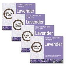 (100g x 4pcs) Happy Bath Lavender Essence Moisture Soap Bar Plant Amorepacific