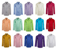 Tinytux Kids Formal Button Up Colored Dress Shirts (Colton)