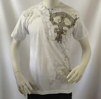 Men's T-shirt Filter Brand Limited Edition Gothic Pattern 100% Cotton Tee White